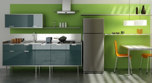 Minimalist fresh green colors kitchen interior design furniture 600x330 Kitchen Modern Minimalist Furniture Inspiration