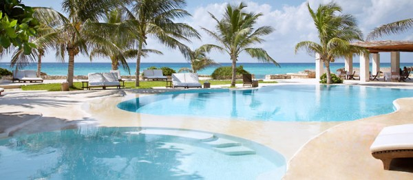 TidesRivieraMaya Pools 600x262 Best 10 Luxury Honeymoon Resorts