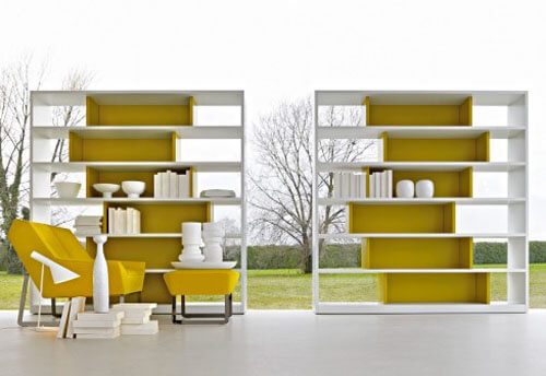Yellow Asymmetrical Shelf Unit 9 Basic Styles in Interior Design