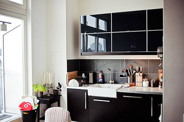 black kitchen design The Psychology of Color for Interior Design