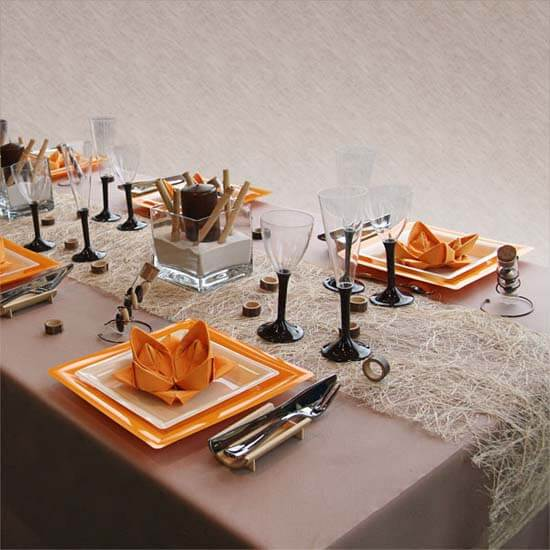 black orange colors thanksgiving halloween table decoration ideas 12 Ideas to Decorate your Table for Halloween