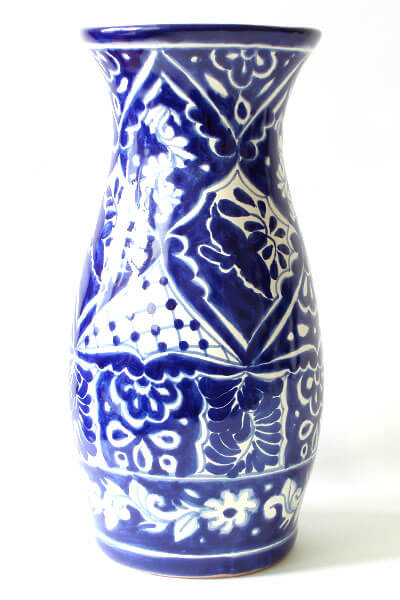 blue white vase 5 Types of Charming Handmade Vases