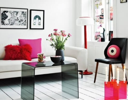 modern pink apartment interior decor 530x417 The Psychology of Color for Interior Design