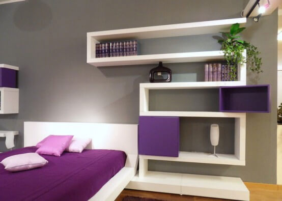 modern relaxing purple bedroom design ideas The Psychology of Color for Interior Design