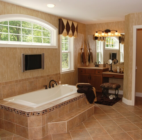 roman style bathroom 9 Basic Styles in Interior Design