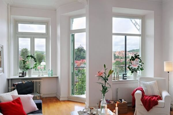 white sweden apartment interior design The Psychology of Color for Interior Design