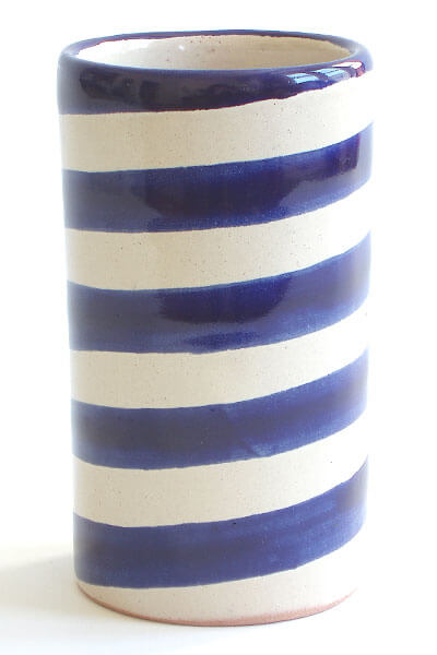 wide blue stripe simple vase 5 Types of Charming Handmade Vases