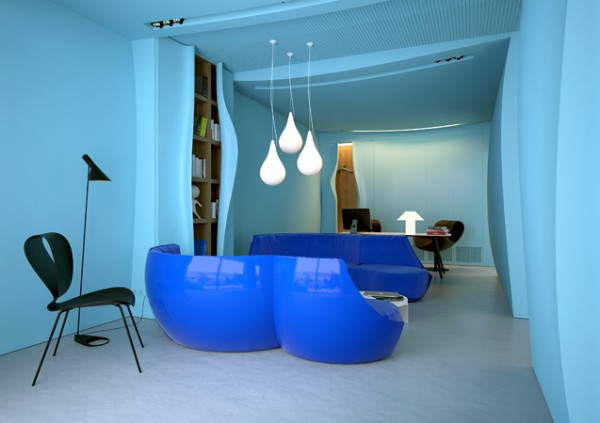 11 600x423 Modern Azure Office Space in Kiev