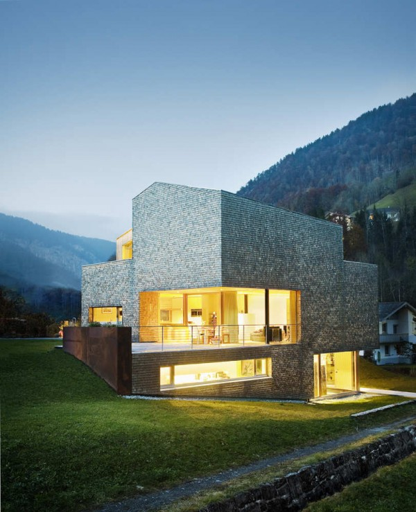 1307745876 10 evening 600x739 Striking Residence With Magnificent Alps Views