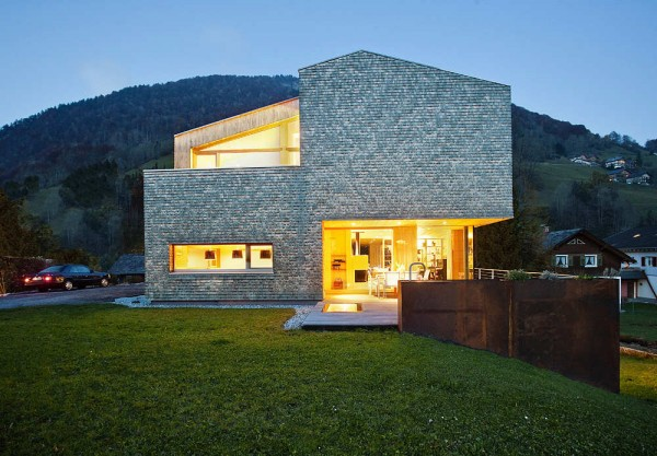 1307745880 11 evening 600x417 Striking Residence With Magnificent Alps Views