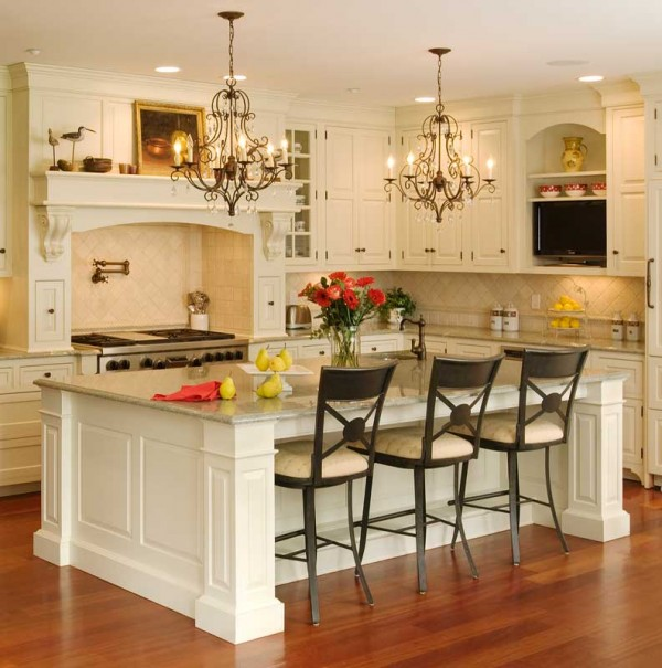 2011 kitchen island 600x605 How to Achieve the Elegant Tuscan Style for Your Kitchen