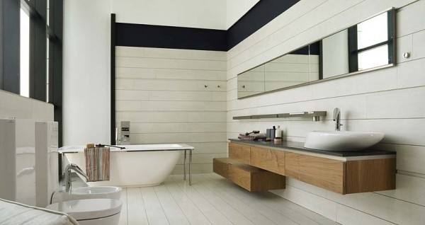 5G Tetris Nogal Tenue 600x318 23 Astonishing Bathroom Design Ideas from Porcelanosa