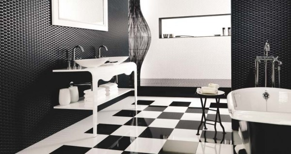 Ace blanco negro H 600x318 23 Astonishing Bathroom Design Ideas from Porcelanosa