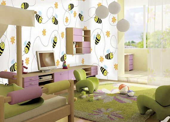 Charm-and-Colorful-Wall-Decal-in-Kids-Bedroom-Design
