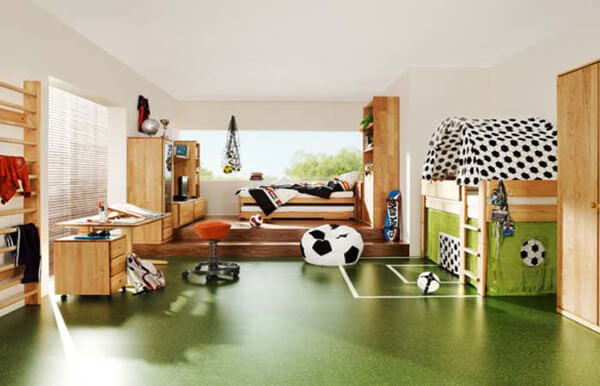 Childrens room decor with sports theme Home Design Decorates Ideas room soccer team How to Design Your Kids Room