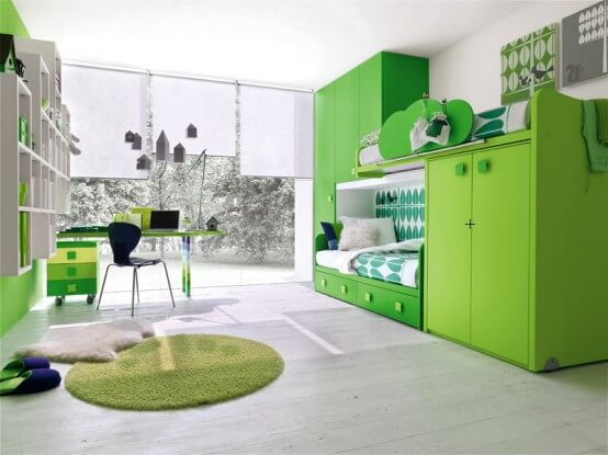 Cute and Beautiful Green Bedroom Design For Child 1 How to Design Your Kids Room