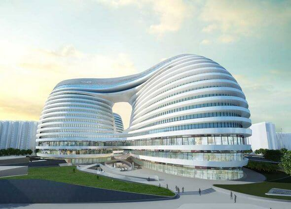 Galaxy SOHO Architecture Building by Zaha Hadid 14 Futuristic Building Designs in China