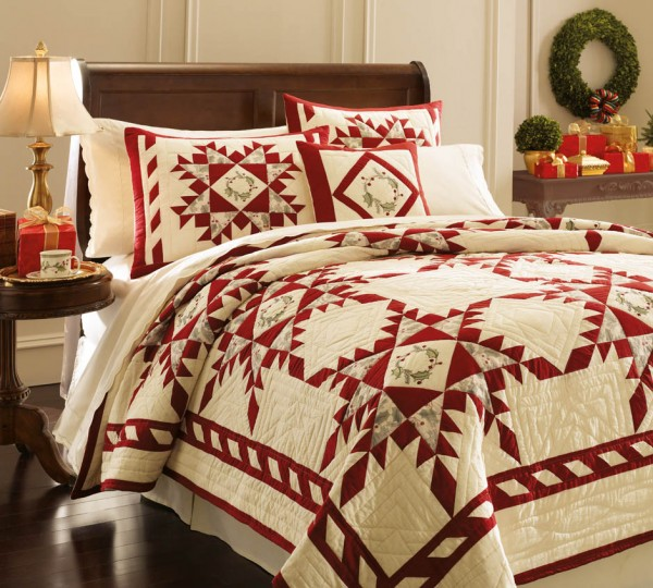 Lenox HolidayGatherings Quilt 940 600x540 Elegant and Stylish Winter Bedding Ideas