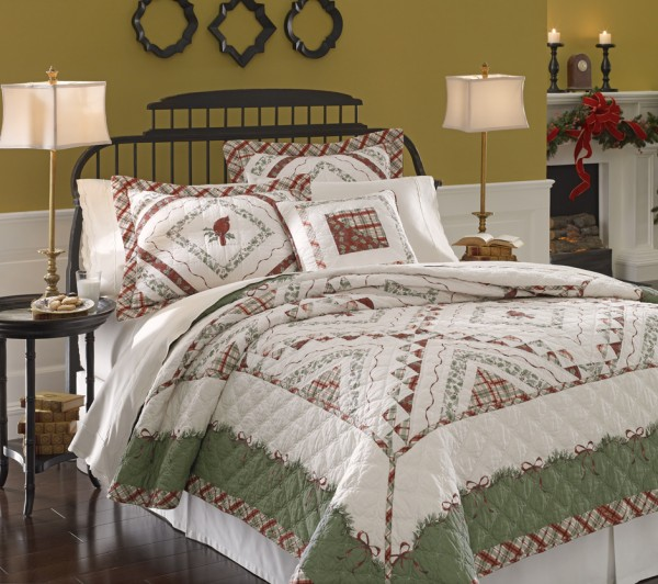 Lenox WinterGreetings Quilt 940 600x532 Elegant and Stylish Winter Bedding Ideas