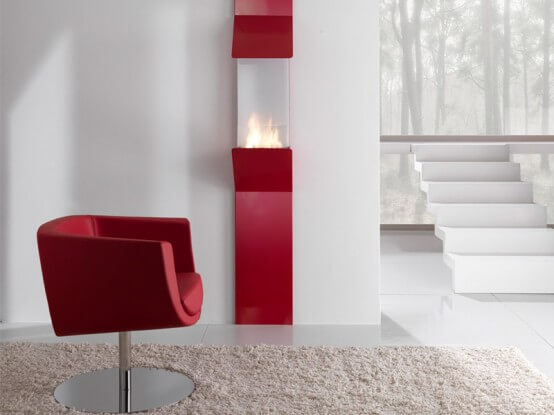 Minimalist Wall Mount Fireplace By Fontana Forni 0 Attractive Modern Fireplaces Designs