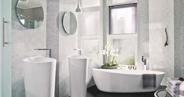 Nacare gris Deco nacare blanco H 600x318 23 Astonishing Bathroom Design Ideas from Porcelanosa
