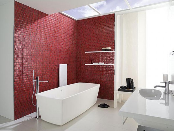 P Trento Rojo20x316cm H 600x450 23 Astonishing Bathroom Design Ideas from Porcelanosa