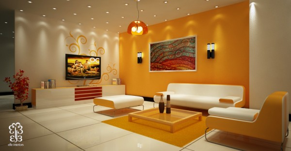 Top 10 Classy Living Room Ideas Beautiful accent wall colorful art living room 600x312 How to Create Beautiful Accent Walls for Your Rooms