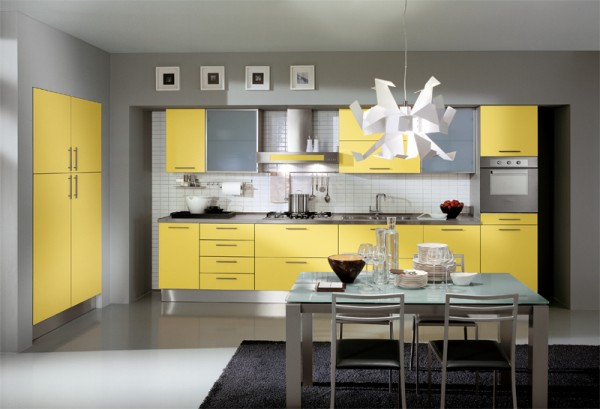 ala cucine yellow kitchen designs inspiration 600x409  How to Remodel Your Kitchen Floor Area