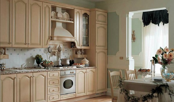 classic kitchen1 600x352 Beautiful Italian Classic Kitchen Furniture