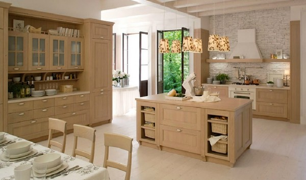classic kitchen11 600x354 Beautiful Italian Classic Kitchen Furniture