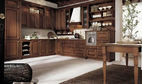 classic kitchen12 600x355 Beautiful Italian Classic Kitchen Furniture