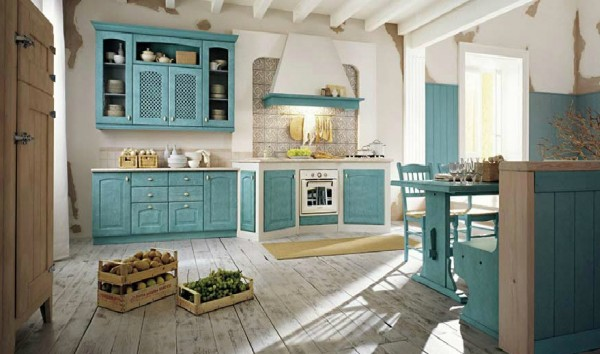 classic kitchen13 600x354 Beautiful Italian Classic Kitchen Furniture