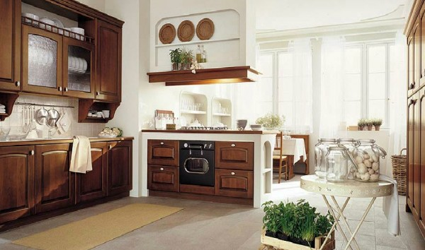 classic kitchen14 600x354 Beautiful Italian Classic Kitchen Furniture