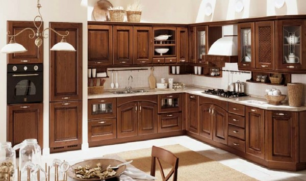 classic kitchen16 600x355 Beautiful Italian Classic Kitchen Furniture
