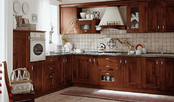 classic kitchen3 600x354 Beautiful Italian Classic Kitchen Furniture