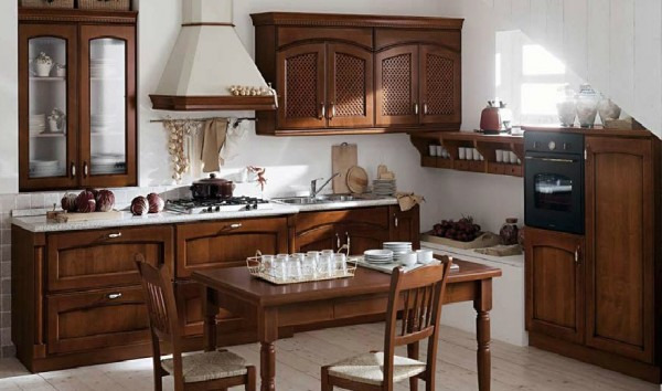 classic kitchen6 600x354 Beautiful Italian Classic Kitchen Furniture