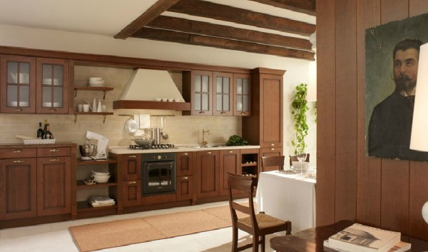 classic kitchen7 600x353 Beautiful Italian Classic Kitchen Furniture
