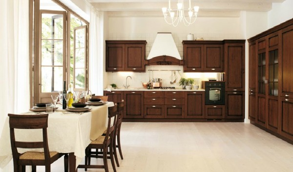 classic kitchen9 600x353 Beautiful Italian Classic Kitchen Furniture