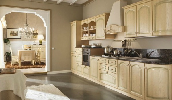 classic kitchn2 600x352 Beautiful Italian Classic Kitchen Furniture