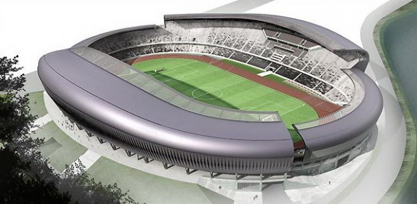 cluj1 600x294 Fantastic Cluj Arena Stadium in Romania