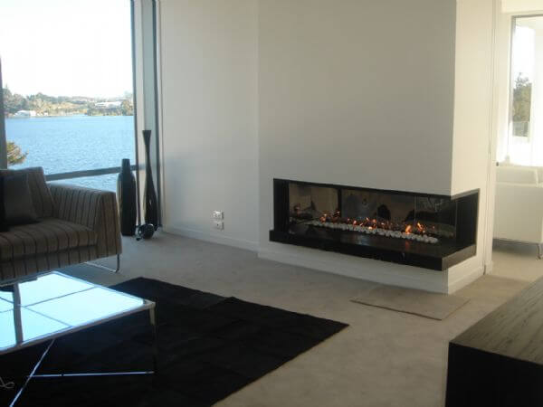 custom corner sided gas fireplace 1 Attractive Modern Fireplaces Designs