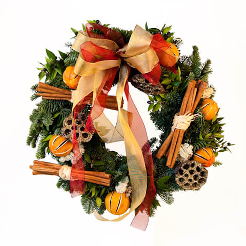 door wreath 50cm traditional 2011 Inspirational Enchanting Christmas Wreaths