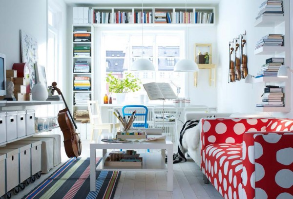 ikea living room design ideas 2012 2 600x408 Rearrange Small Living Rooms with Ikea Ideas for 2012