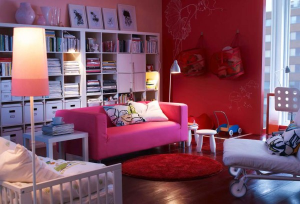 ikea living room design ideas 2012 4 600x408 Rearrange Small Living Rooms with Ikea Ideas for 2012
