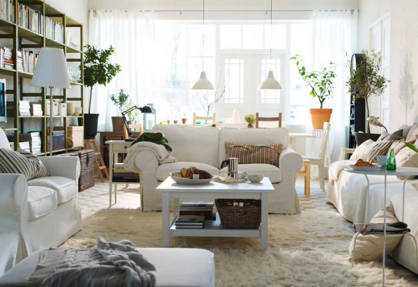 ikea living room design ideas 2012 6 600x412 Rearrange Small Living Rooms with Ikea Ideas for 2012
