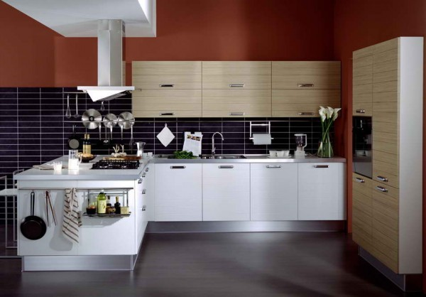 kitchen mosaic tiles 1 600x418 How to Create a Minimalist Kitchen