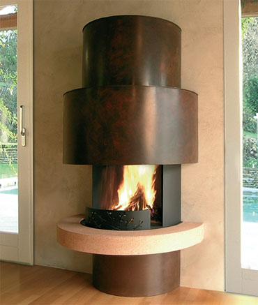 moai01 Attractive Modern Fireplaces Designs