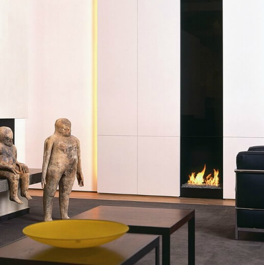 modern fireplace1 Attractive Modern Fireplaces Designs