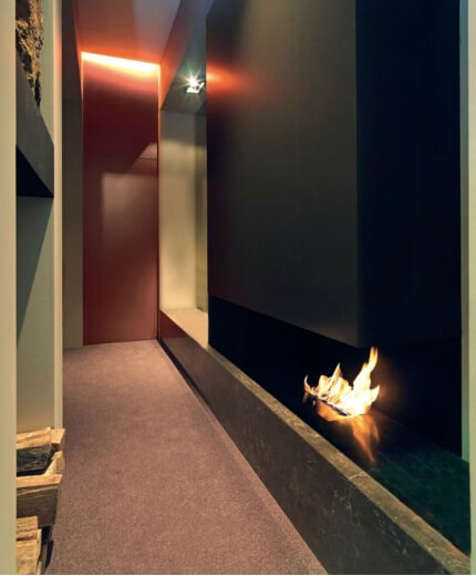 modern fireplace2 Attractive Modern Fireplaces Designs