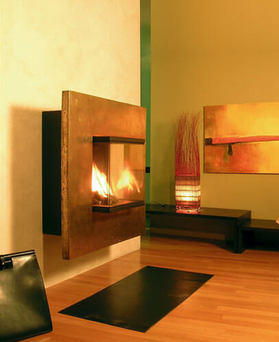 ogami01 Attractive Modern Fireplaces Designs